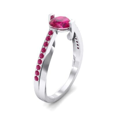Cathedral Illusion Bypass Ruby Engagement Ring (0.83 CTW)
