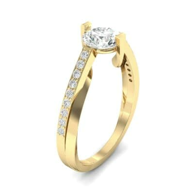 Cathedral Illusion Bypass Diamond Engagement Ring (0.83 CTW)