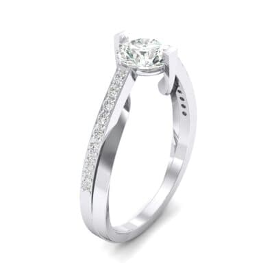 Cathedral Illusion Bypass Crystal Engagement Ring (0.83 CTW)