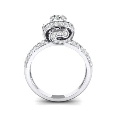 Triple Pave Grotto Diamond Engagement Ring (1.31 CTW) Side View