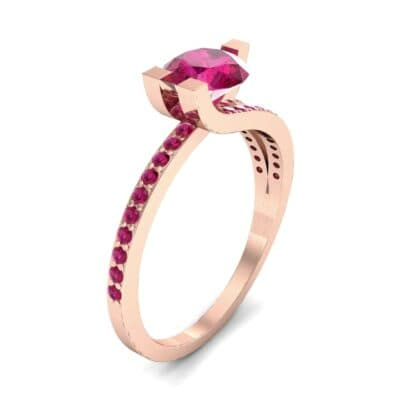 Asymmetrical Three-Prong Ruby Engagement Ring (1.17 CTW)