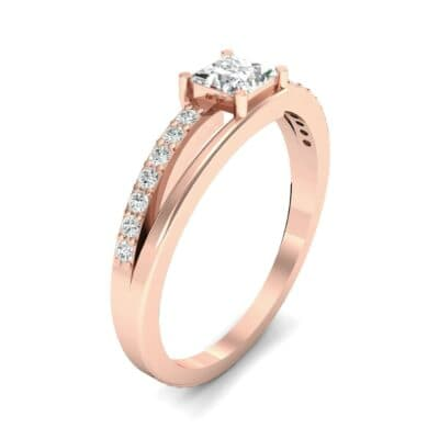 Princess-Cut Bypass Diamond Engagement Ring (0.53 CTW) Perspective View