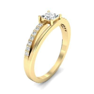 Princess-Cut Bypass Diamond Engagement Ring (0.53 CTW)