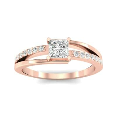 Princess-Cut Bypass Diamond Engagement Ring (0.53 CTW) Top Dynamic View