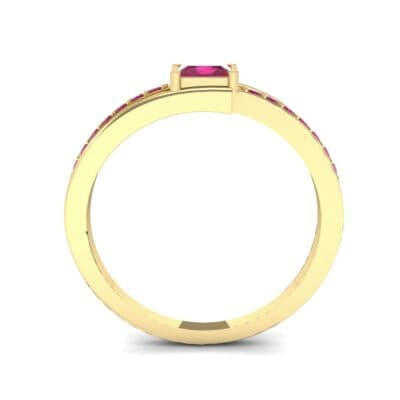 Princess-Cut Bypass Ruby Engagement Ring (0.53 CTW) Side View