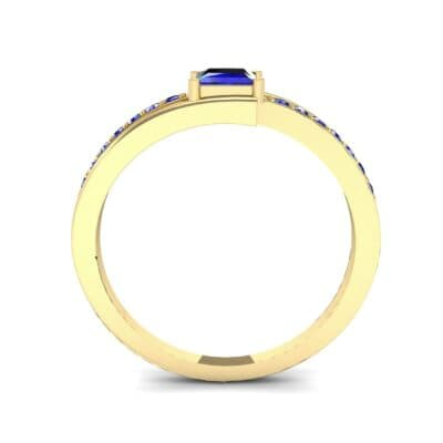 Princess-Cut Bypass Blue Sapphire Engagement Ring (0.53 CTW) Side View