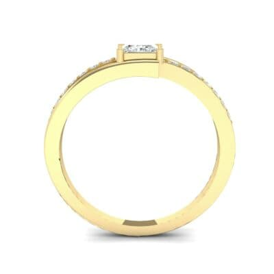 Princess-Cut Bypass Diamond Engagement Ring (0.53 CTW) Side View