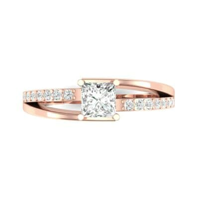 Princess-Cut Bypass Diamond Engagement Ring (0.53 CTW) Top Flat View