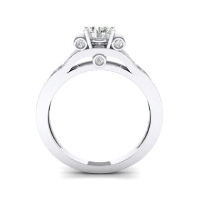 Pave Scroll Solitaire Diamond Engagement Ring (1.22 CTW) Side View