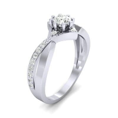 Natale Cross Shank Diamond Engagement Ring (0.88 CTW)