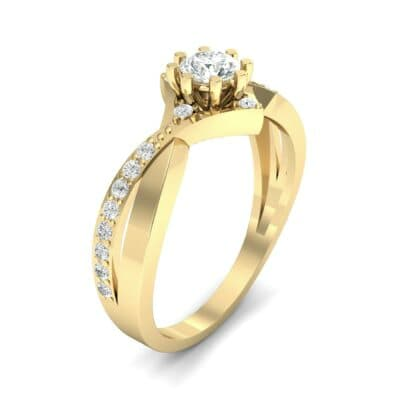 Natale Cross Shank Diamond Engagement Ring (0.88 CTW)