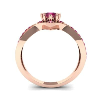 Natale Cross Shank Ruby Engagement Ring (0.88 CTW) Side View