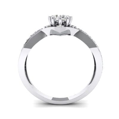 Natale Cross Shank Diamond Engagement Ring (0.88 CTW) Side View