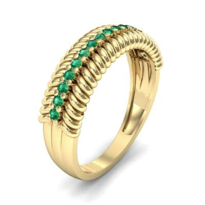 Athena Rope Border Emerald Ring (0.26 CTW)