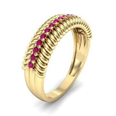 Athena Rope Border Ruby Ring (0.26 CTW)