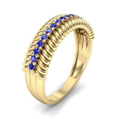 Athena Rope Border Blue Sapphire Ring (0.26 CTW)
