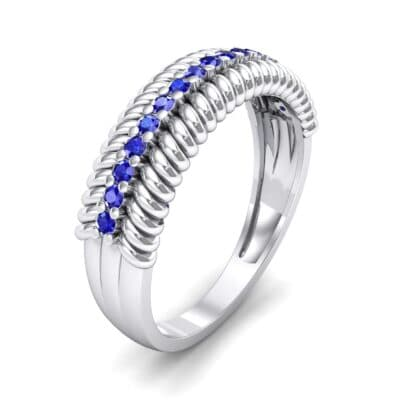 Athena Rope Border Blue Sapphire Ring (0.26 CTW) Perspective View