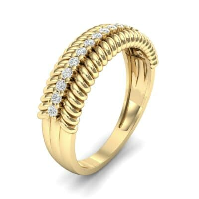 Athena Rope Border Diamond Ring (0.26 CTW) Perspective View