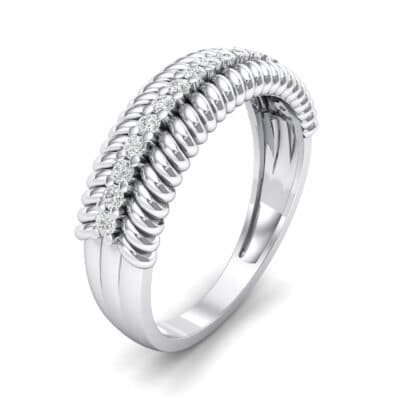 Athena Rope Border Crystal Ring (0.26 CTW)
