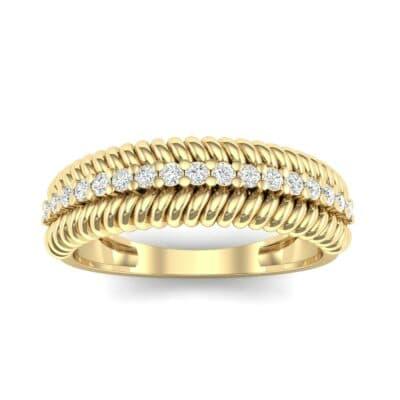 Athena Rope Border Diamond Ring (0.26 CTW) Top Dynamic View