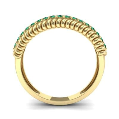 Athena Rope Border Emerald Ring (0.26 CTW) Side View