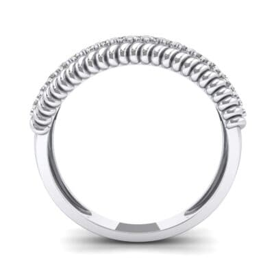 Athena Rope Border Diamond Ring (0.26 CTW) Side View