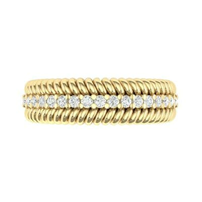 Athena Rope Border Diamond Ring (0.26 CTW) Top Flat View