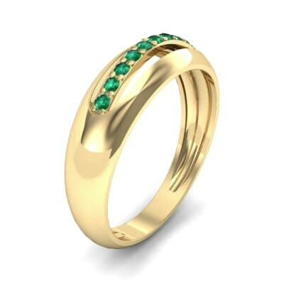 Domed Skyway Emerald Ring (0.15 CTW)