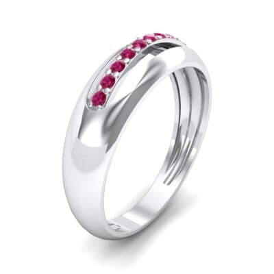 Domed Skyway Ruby Ring (0.15 CTW) Perspective View