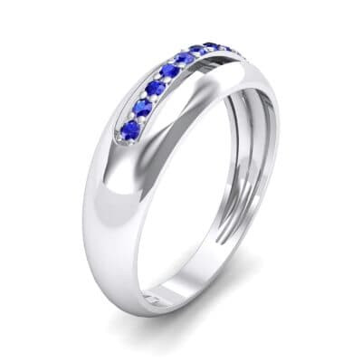Domed Skyway Blue Sapphire Ring (0.15 CTW)