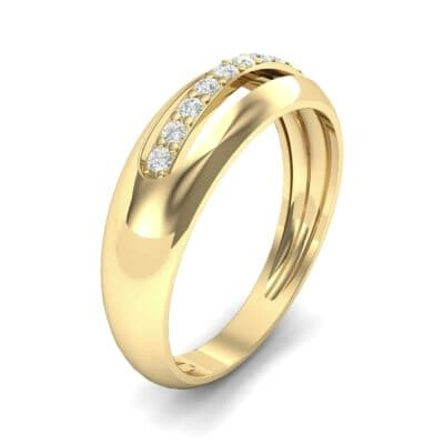 Domed Skyway Diamond Ring (0.15 CTW)