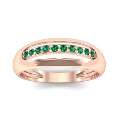 Domed Skyway Emerald Ring (0.15 CTW) Top Dynamic View