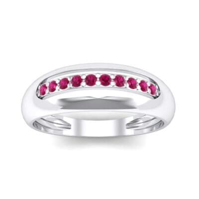 Domed Skyway Ruby Ring (0.15 CTW) Top Dynamic View