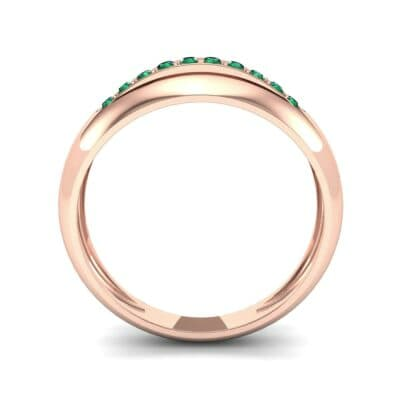 Domed Skyway Emerald Ring (0.15 CTW) Side View