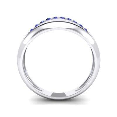 Domed Skyway Blue Sapphire Ring (0.15 CTW) Side View