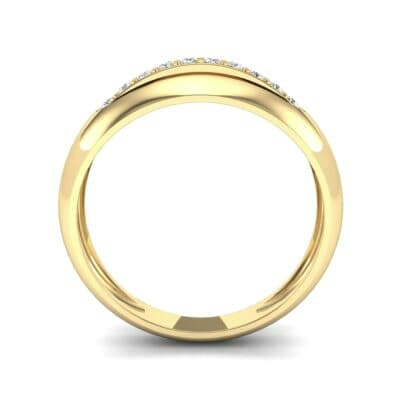 Domed Skyway Diamond Ring (0.15 CTW) Side View