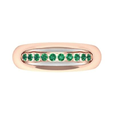 Domed Skyway Emerald Ring (0.15 CTW) Top Flat View