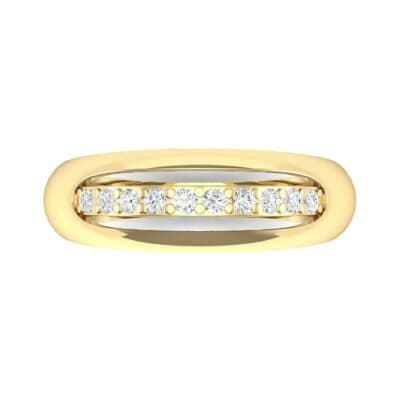 Domed Skyway Diamond Ring (0.15 CTW) Top Flat View