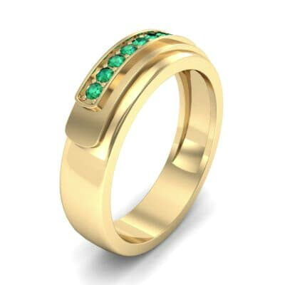 Dais Pave Emerald Ring (0.14 CTW) Perspective View