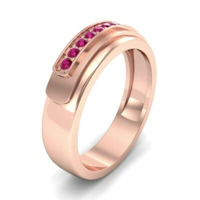 Dais Pave Ruby Ring (0.14 CTW)