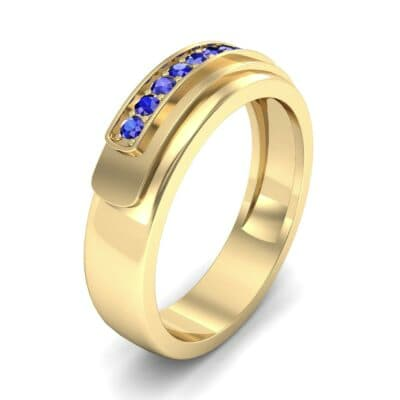 Dais Pave Blue Sapphire Ring (0.14 CTW)