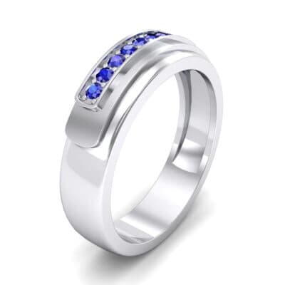 Dais Pave Blue Sapphire Ring (0.14 CTW) Perspective View