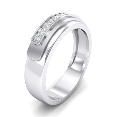 Dais Pave Diamond Ring (0.14 CTW) Perspective View