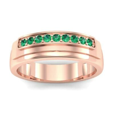 Dais Pave Emerald Ring (0.14 CTW) Top Dynamic View