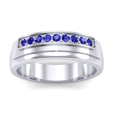 Dais Pave Blue Sapphire Ring (0.14 CTW) Top Dynamic View