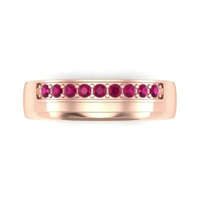 Dais Pave Ruby Ring (0.14 CTW) Top Flat View