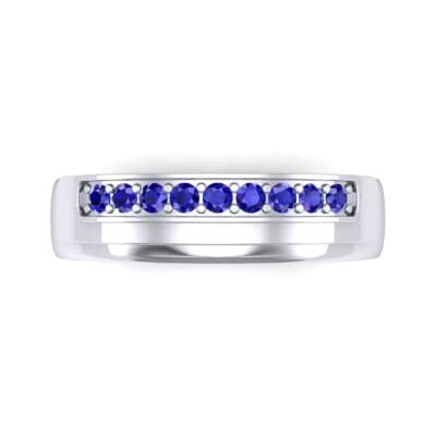 Dais Pave Blue Sapphire Ring (0.14 CTW) Top Flat View