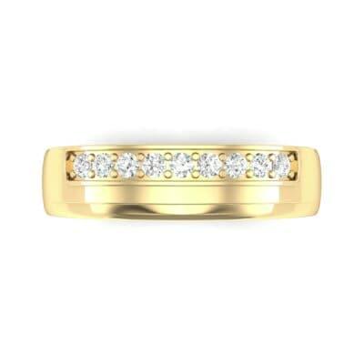 Dais Pave Diamond Ring (0.14 CTW) Top Flat View