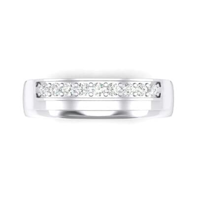 Dais Pave Diamond Ring (0.14 CTW) Top Flat View