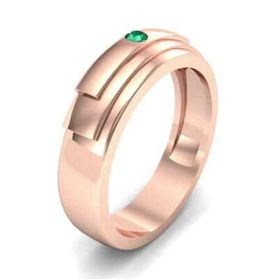 Dais Single Stone Emerald Ring (0.03 CTW) Perspective View